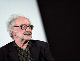 Jean-Luc Godard attending a debate earlier this year in Paris where he presented his latest film, Socialism (AFP)