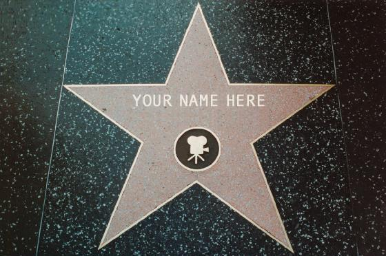 Get your very own Star on the Hollywood Walk of Fame!